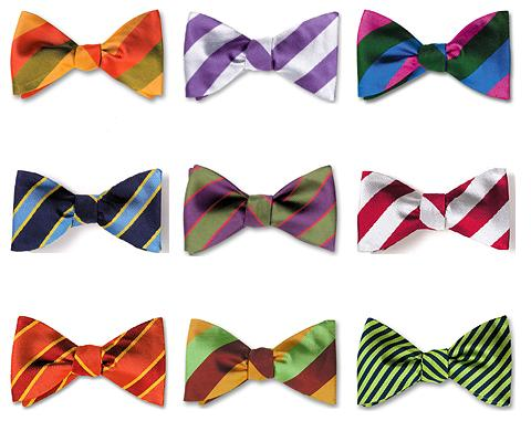Awesome Bow Ties for Stripe & Polka Dot Patterns